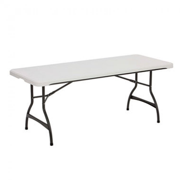 6' White Rectangular Table